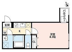 メゾン・ド 千葉[3階]の間取り