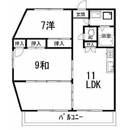 ロゼIII 609号[6階]の間取り