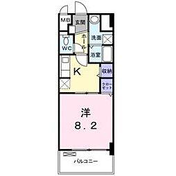 兵庫県尼崎市道意町4丁目の賃貸マンションの間取り