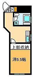 レジデンス豊[2階]の間取り