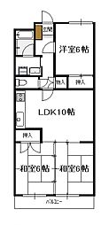 青南ハイツ(3LDK)[206号号室]の間取り