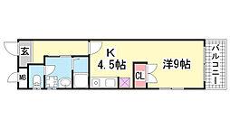 エスポワール諏訪山[301号室]の間取り
