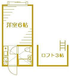 コーポスズキ[1階]の間取り