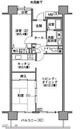 URビューコート小港[9-802号室]の間取り