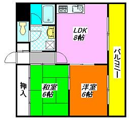 ファースト・小阪 402号室[4階]の間取り