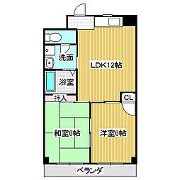 愛知県名古屋市熱田区四番2丁目の賃貸マンションの間取り