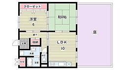 大阪府豊中市利倉3丁目の賃貸マンションの間取り