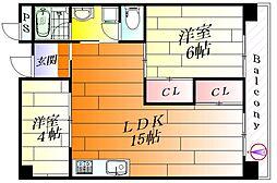ナンノ第18号館[3階]の間取り