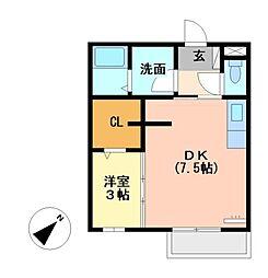 モナリエ栄[2階]の間取り