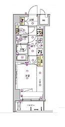 東京メトロ半蔵門線 水天宮前駅 徒歩3分の賃貸マンション 5階1Kの間取り