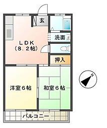 メープルコーポ[2階]の間取り