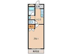 メディハイツ和歌川[1階]の間取り