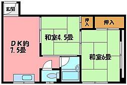 兵庫県芦屋市大東町の賃貸マンションの間取り