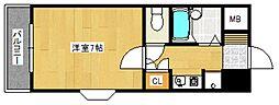 ドミエスポワール久留米III[305号室号室]の間取り