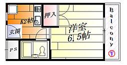 ナンノ第12号館[2階]の間取り