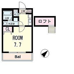 滋賀県野洲市小篠原の賃貸アパートの間取り