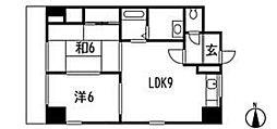 コンフォートNビル3[8階]の間取り