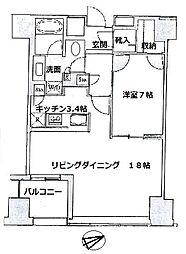 セントラルパークタワー・ラ・トゥール新宿[16階]の間取り