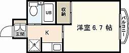 ダイアパレス横川公園[11階]の間取り