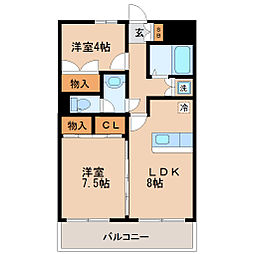 シャングリラ高松[1階]の間取り