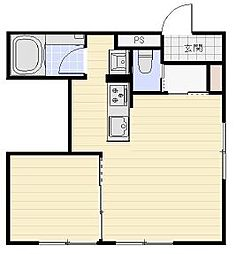 東ハイツ8・8[4階]の間取り