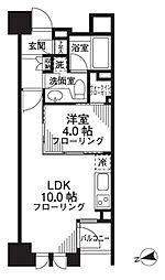 シティハウス東京新橋[8階]の間取り