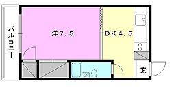 豊洋ハイツ[408 号室号室]の間取り