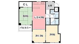パークハイツ甲子園[1階]の間取り