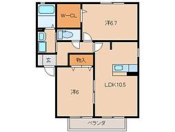 LE FIGARO III[1階]の間取り