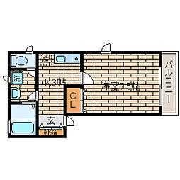 兵庫県神戸市須磨区桜木町3丁目の賃貸アパートの間取り