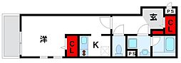 JR鹿児島本線 福間駅 徒歩4分の賃貸アパート 1階1Kの間取り