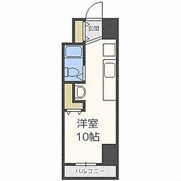 メゾンクレスト円山公園[3階]の間取り