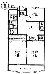 グラン松葉[4階]の間取り