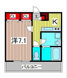 リブリ・芝富士[2階]の間取り