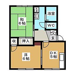 東海ハイツA棟[2階]の間取り