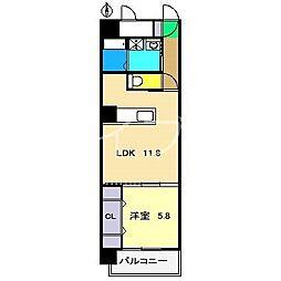 ルガーノIII[5階]の間取り
