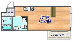 エス・キュート魚崎[603号室]の間取り