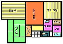 東郷若葉マンション[2階]の間取り