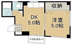 トランペットビル[1階]の間取り