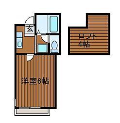 神奈川県相模原市南区上鶴間本町1丁目の賃貸アパートの間取り