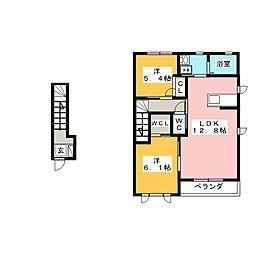 メゾン・グランディ 弐番館[2階]の間取り