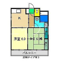 SK&N[3階]の間取り