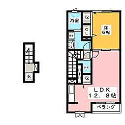 コッティ アルバ[2階]の間取り