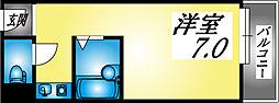 兵庫県神戸市東灘区住吉東町2丁目の賃貸マンションの間取り
