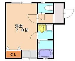 スカイハウス筑紫丘[2階]の間取り