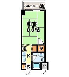 八坂ハイツ[403号室]の間取り