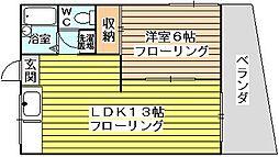 豊里ハイツ[1階]の間取り