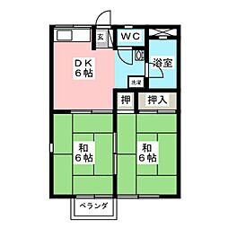 ハイツワン[2階]の間取り