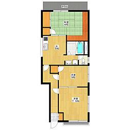 ホープフルハウス[101号室]の間取り