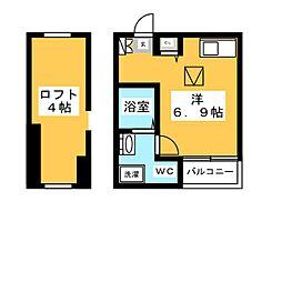 ボナール吉塚[2階]の間取り